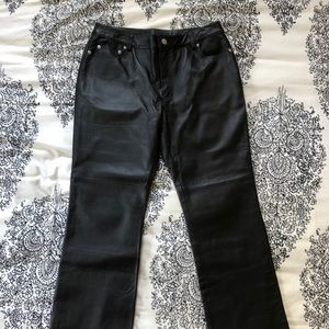 Newport News Black Leather Pants